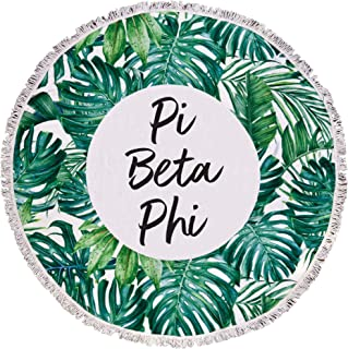 Sorority Shop Pi Beta Phi - Palm Leaf - Fringe Towel - Blanket