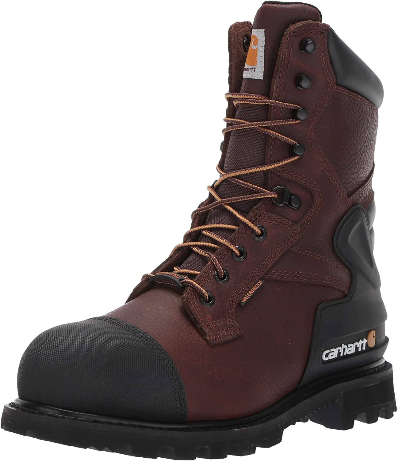 Carhartt Mens CSA 8-inch Wtrprf Insulated Work Boot Steel Safety Toe Cmr8859 Industrial Boot