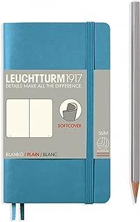 "Leuchtturm 1917 Soft Cover Small Slim Pocket Notebook 3.5"" x 5.9"", Nordic Blue, Plain"