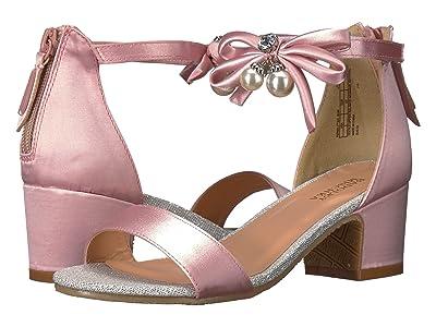 Badgley Mischka Kids Pernia Pearl Bow (Little Kid/Big Kid) (Pink/Silver) High Heels