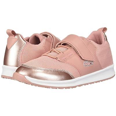 Lacoste Kids L.ight (Little Kid) (Pink/White) Girl