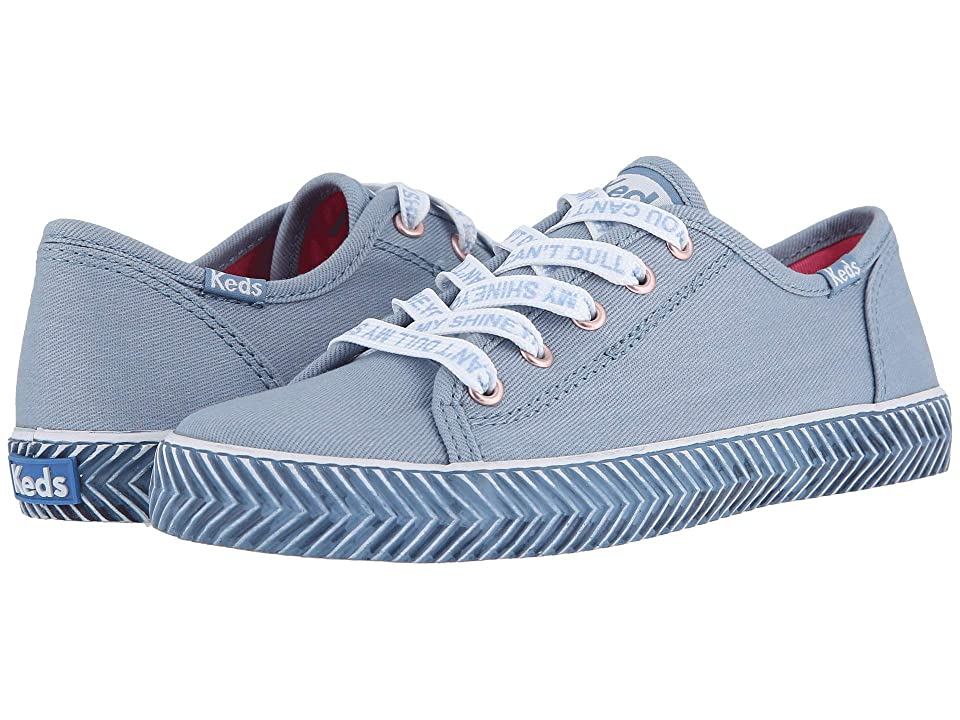 Keds Kids Kickstart Messaging (Little Kid/Big Kid) (Denim Messaging) Girl