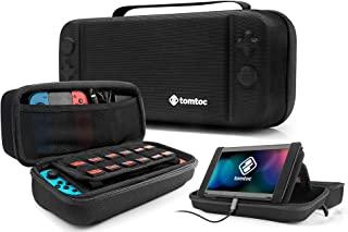Hard Storage Case Compatible with Nintendo Switch, tomtoc Original Protective Hardshell Travel Handle Case Carrying Bag Cover fit Nintendo Switch Console and Accessories, 24 Game Card Slots