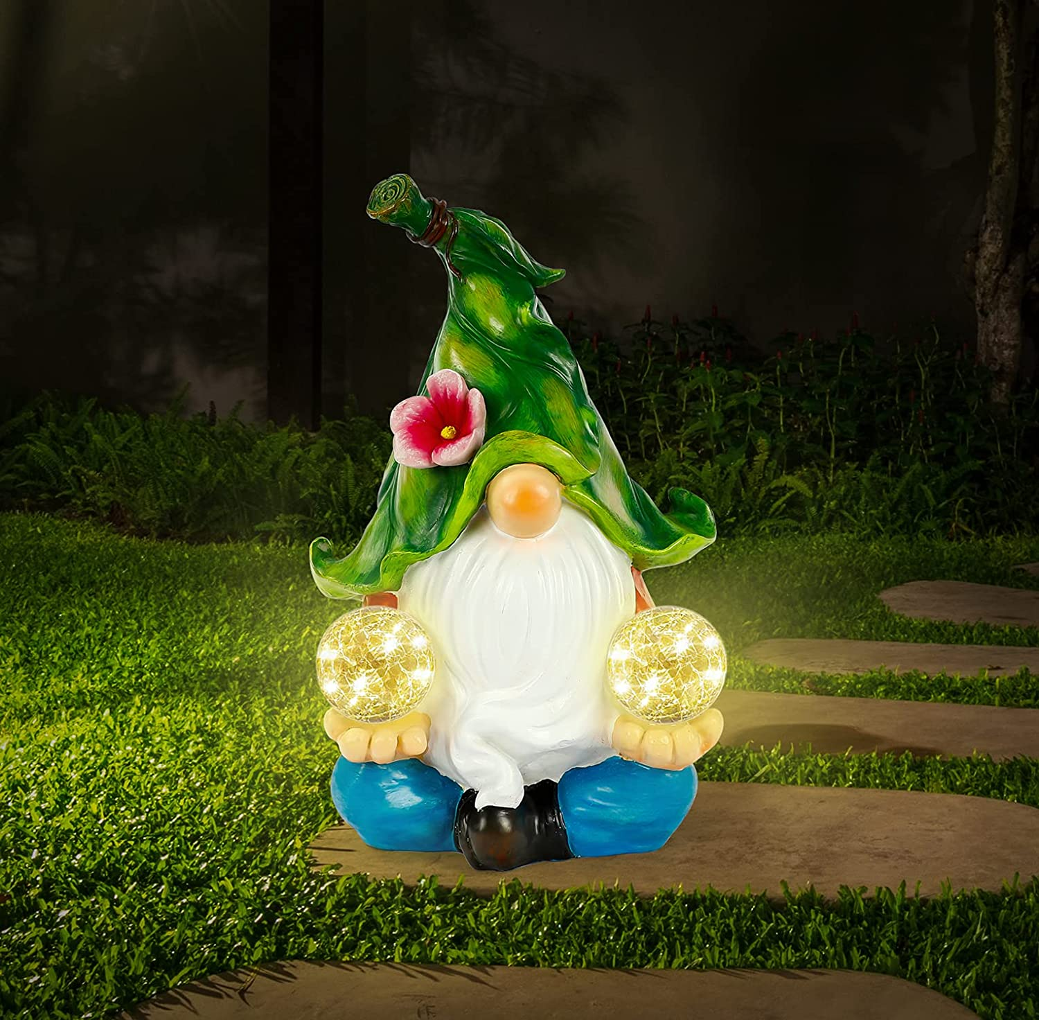 WOGOON Gnomes Outstanding Max 41% OFF Garden Art Outdoor Meditating Large G Decorations