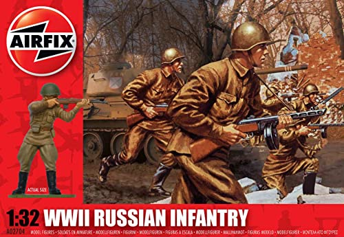 Los mejores precios y los estilos más frescos. Airfix Airfix Airfix - WWII Russian Infantry, set de figuras (Hornby A02704)  venta con descuento
