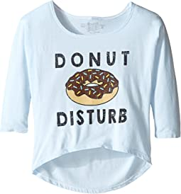 The Original Retro Brand Kids - Donut Distrub 3/4 Dolman Tee (Little Kids/Big Kids)