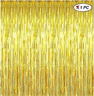 ستارة من رقائق معدنية ذهبية من بارتي بروبس (3 أقدام × 8 أقدام × 10 بوصة) لتزيين أعياد الميلاد / تزيين حفلات أعياد الميلاد ...