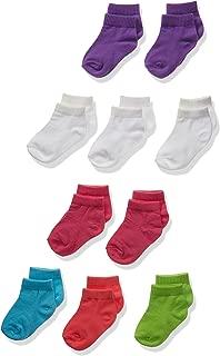Hanes Girls' Toddler Ankle Socks 10-Pack