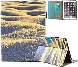 iPad Air 2 /iPad Air /iPad 9.7 inch 2017 Adventure Covers PU Leather, Folio Magnetic [Anti-Slide] Cover with Auto Sleep/Wake [Multi Viewing] for Apple iPad 9.7 2017/iPad Air 1&2 ( iPad 5&6), Beach