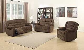 Christies Home Living 3Piece Bill Contemporary Reclining Room Set, Brown