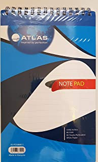 ATLAS DOUBLE WIRE SPIRAL PAD (5X8/80 GSM/80 SHEETS/6 PADS)