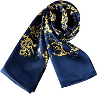 Long Charmeuse Satin Silk Scarf for Men
