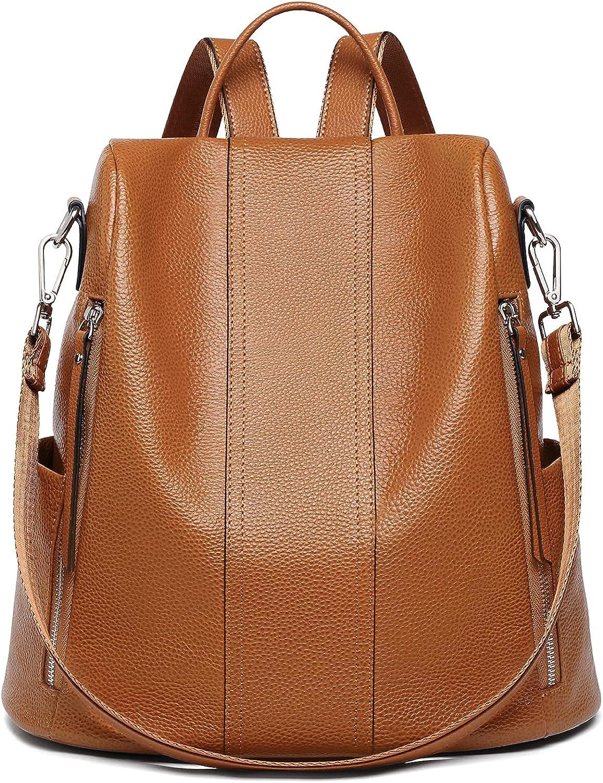Women Leather Backpack Purse Fashion Designer Shoulder half shop Large Bag