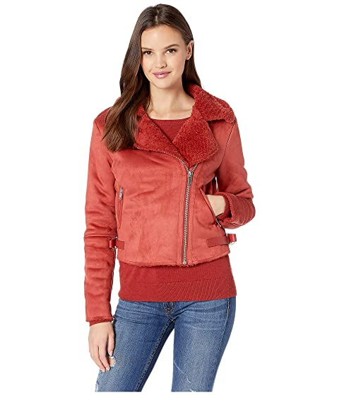 ROMEO & JULIET COUTURE Faux Fur Lined Jacket, Rust