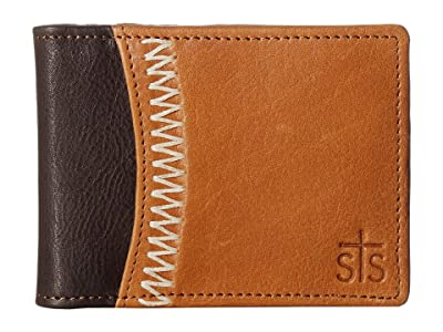 STS Ranchwear Frontier Hidden Money Clip (Tan Leather) Handbags