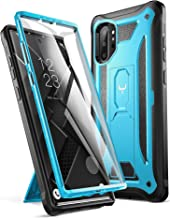 YOUMAKER Case for Galaxy Note 10 Plus, Built-in Screen Protector Work with Fingerprint ID Kickstand Full Body Heavy Duty Shockproof Cover for Samsung Galaxy Note 10 Plus 6.8 Inch (2019) - Blue/Black