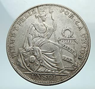 peru un sol silver coin