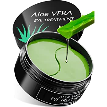 Aloe Vera Eye Treatment Mask (30 Pairs) Reduces Puffiness, Wrinkles, Puffy and Bags Under Eyes, Lightens Dark Circles, Undereye Patches Moisturizes and Anti Aging Skin, Hydrogel Pads with Collagen