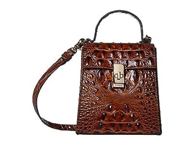 Brahmin Melbourne Midge Crossbody (Pecan) Handbags