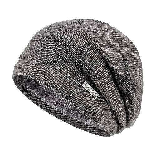 1101bdab0e801e OMECHY Winter Knit Slouchy Beanie Hat Unisex Daily Warm Ski Skull Cap 4  Colors