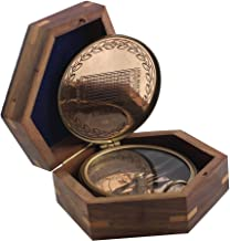 American Boy Scout Compass Copper Vintage Wooden Star Box Antique Gift - Collectible Choice