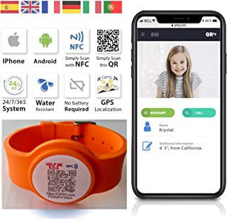 QR4g.com GPS: Pulsera ajustable identificativa con Tecnolog