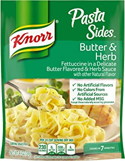Knorr Pasta Sides For a Delicious Easy Pasta Meal Butter and Herb No Artificial Flavors, No Colors from Artificial Sources...