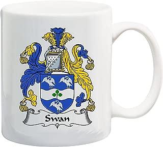 Swan Coat of Arms/Swan Family Crest 11 Oz Ceramic Coffee/Cocoa Mug by Carpe Diem Designs, Made in the U.S.A.