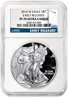 2014 W Proof Silver American Eagle PF-70 NGC (Early Releases) 1 OZ PF70 NGC