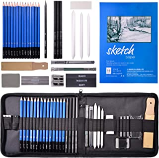 CHIVENIDO Sketching Pencil Set - Professional Drawing Pencils Graphing Art Set 35 Pieces Sketching Pencils Set with Sketch...