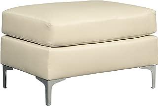 Ashley Furniture Signature Design - Tensas Contemporary Ottoman - Ice