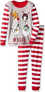 Boys' Holiday Print 2 Piece Cotton Tight fit Pajama Set