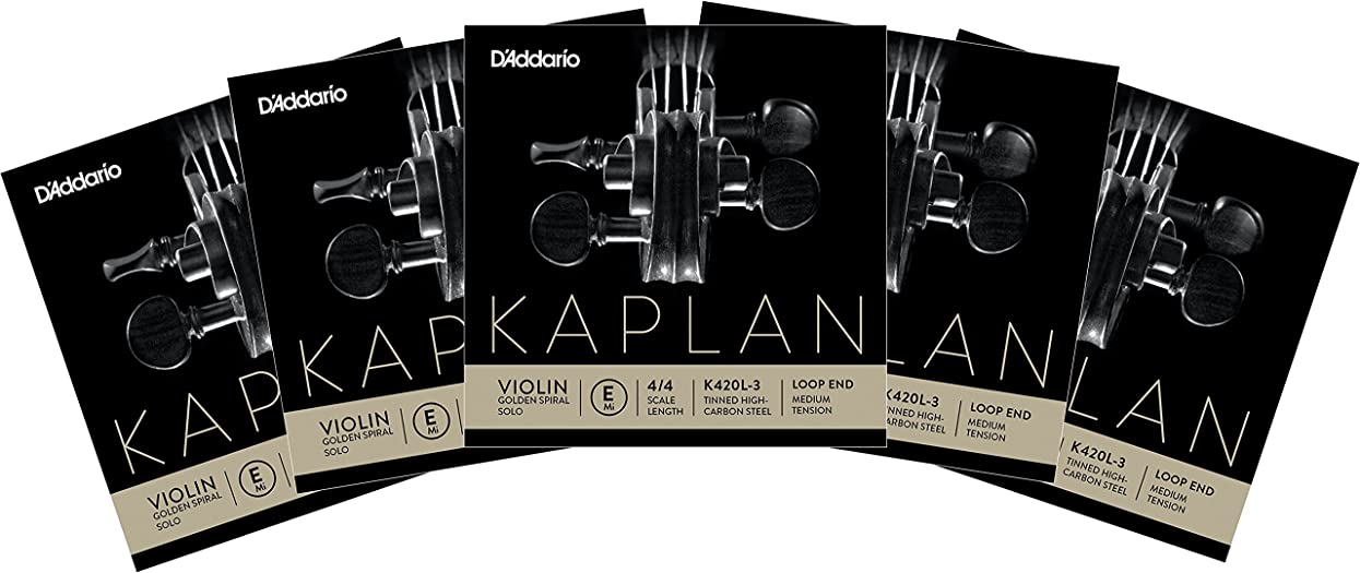 記念ネコオアシスKAPLAN Golden Spiral SOLO カプラン ゴールデンスパイラルソロ  バイオリン弦E線 K420L3(5本セット)