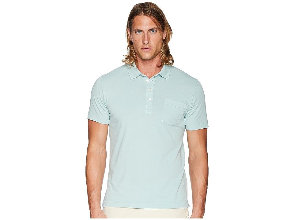 Image of Billy Reid Penascola Polo (Cloud Blue) Men's Short Sleeve Pullover