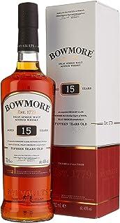 Bowmore 15 Jahre Islay Single Malt Scotch Whisky, mit Geschenkverpackung, rauchig mit einem Hauch von Sherry, 43% Vol, 1 x 0,7l