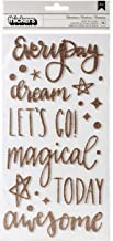 American Crafts Shimelle Head In The Clouds Thickers Stickers 5.5X11 76/Pkg-Adventures/Phrases/Foam/Gold Glitter