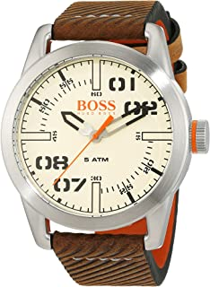 Hugo Boss Orange Oslo Men's Quartz Analogue Classic Brown Leather Strap 1513418