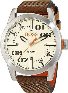 Hugo Boss Orange Oslo Men's Quartz Analogue Classic Brown Leather Strap 1513418