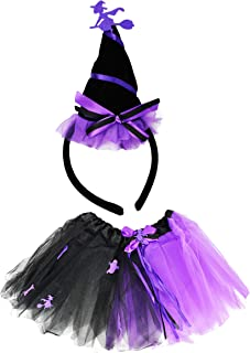 Set of Tutu Costume Set! Ice Princess, Witch, Clown, and Pumpkin Patch Fairy! Wings and Headbands!