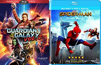 Marvel Blu-ray Bundle Spider-Man: Homecoming (Blu-ray + DVD + Digital) and Guardians of the Galaxy Vol. 2 (Blu-ray + DVD + Digital) Cinematic Universe Super Hero Double Feature