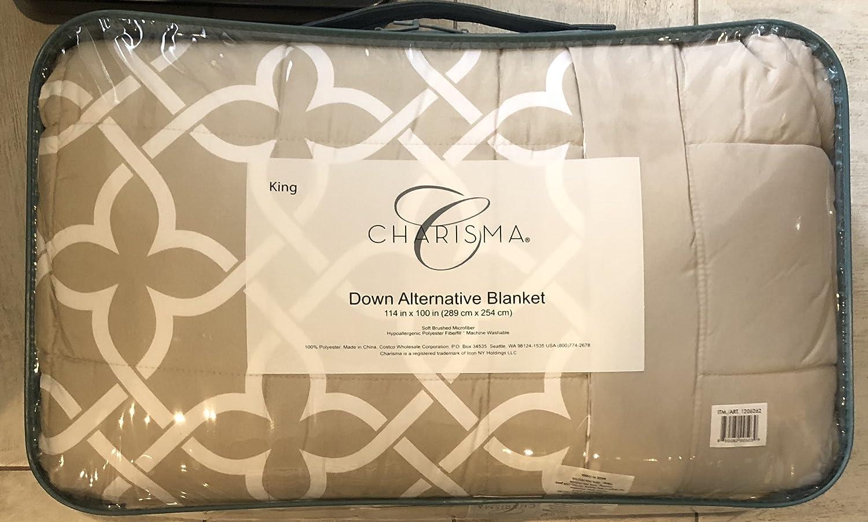 Charisma Down Alternative Blanket (Tan, King-114 in. x 100 in.)