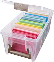 ArtBin 6925AB Semi Satchel Box - Clear, Plastic Art and Craft Supplies Box with Gold Dividers, Handle and Latch Gold