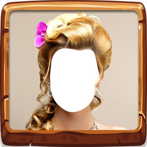 Montaje de fotos de peinado nupcial