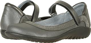 Naot Footwear Women's Tahi Shadow Gray Nubuck/Gunmetal Rivets/Metallic Road Leather Shoe