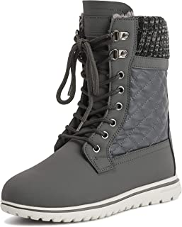 Polar Products Womens Quilted Short Faux Fur Snow Waterproof Winter Durable Warm Boots - 11 - GRE42 AYC0529