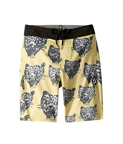 Volcom Kids Ozzie Boardshorts (Big Kids) (Lime) Boy