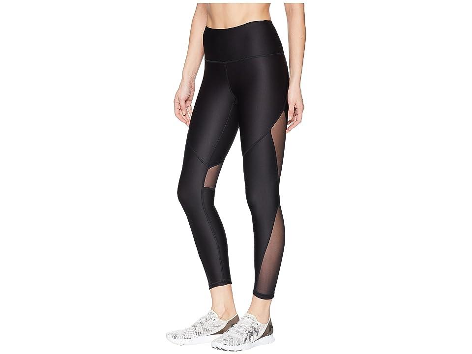 Under Armour HeatGear(r) Armour Mesh Ankle Crop (Black/Metallic Silver) Women's Workout