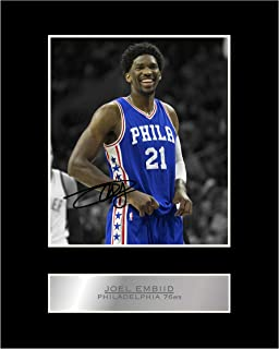 Joel Embiid Signed Mounted Photo Display Philadelphia 76ers #01 NBA Printed Autograph Gift Picture Print