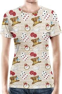 Rainbow Rules Mad Hatter Tea Party Women's Cotton Blend T-Shirt