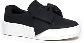 Bow Platform Slip On – Trendy Flatform Shoes - Comfortable Closed Toe Sneakers – Wally